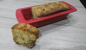 Cake à la farine de maïs blanche, amande et pépites de chocolat