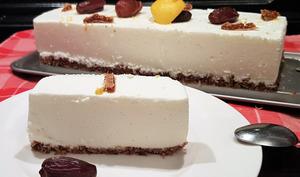 Cheesecake au citron et base aux fruits secs
