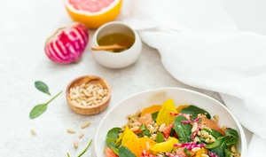 Salade aux agrumes, quinoa et betterave