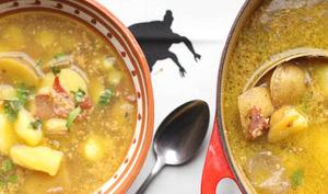 Soupe espagnole aux pommes de terre, ail et amandes