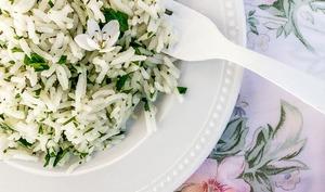 Riz aux herbes et fleurs de souci