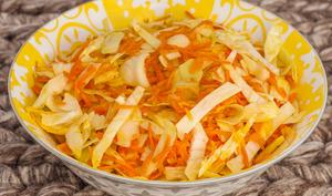 Salade de chou blanc d'hiver