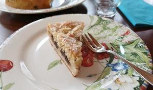 Gâteau-Crumble aux poires et au chocolat