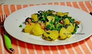 Salade au lard et pissenlit, spécialité ardennaise