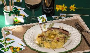 Colecannon Irish mash, purée irlandaise