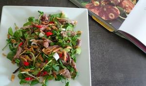 Salade au canard et gingembre