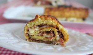 Roulé de pommes de terre au jambon de Bayonne et raclette, avec M. Cuisine ou pas