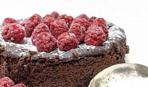 Gâteau chocolat aux framboises