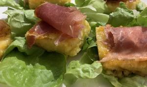 Canapes de polenta & jambon cru – Passeport pour la cuisine