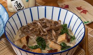 Nouilles soba à la soupe Miso