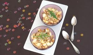 Salade de choucroute crue, pomme noisette