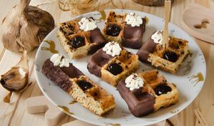 Gaufres chocolat ail noir