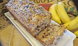 Cake croustillant, banane et chocolat