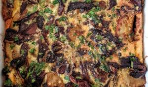 Tortilla aux cèpes et pommes de terre