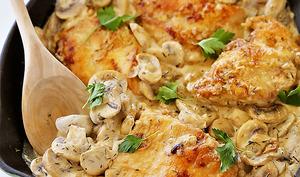 Blanquette de poulet et champignons