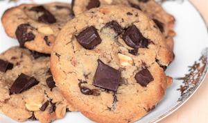 Cookies vegans chocolat, cacahuètes