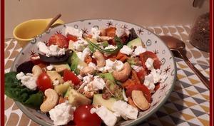 Salade de patates douces au quinoa et feta