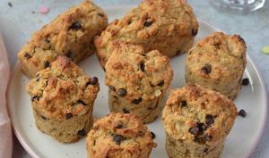Muffins à la banane et aux flocons d'avoine