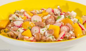Salade de haricots borlotti à la mangue et à la fêta
