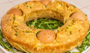 Cake salé végétarien de Pâques