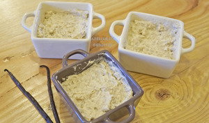 Riz au lait et son crémeux à la vanille
