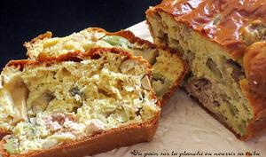 Cake léger thon champignons olives