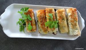 Rouleaux au thon et fromage