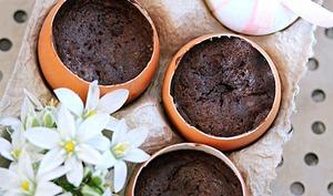 Œufs au chocolat à la vapeur douce