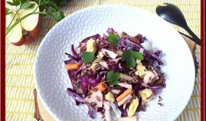 Salade riz Camarguais au chou rouge