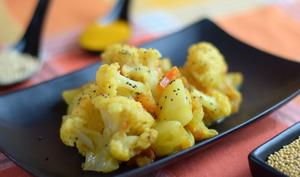 Pommes de terre et chou-fleur aux épices