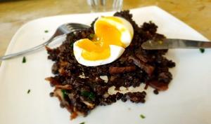 Salade de lentilles œuf mollet