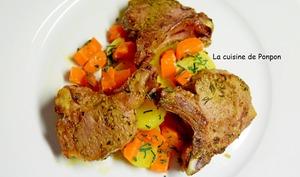 Côte d'agneau cuite à basse température