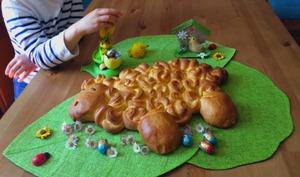 Agneau brioché pour Pâques