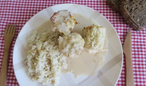 Bouchées de poulet en sauce à la crème
