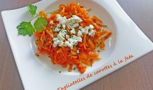 Tagliatelles de carottes à la feta