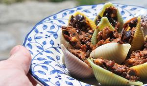 Conchiglioni farcis champignons et olives