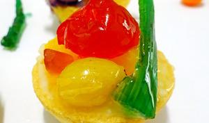 Mini telline à la crème pâtissière et aux fruits - Passiflore, Passion d'Héllyane