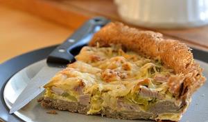 Tarte bretonne poireau-andouille