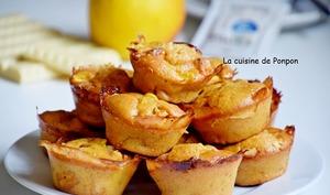 Muffin aux pommes et chocolat blanc