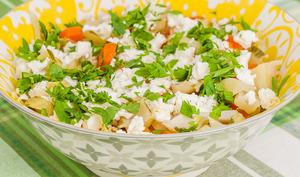 Salade de côtes de chou fleur et carottes à la fêta