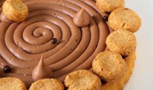 Tarte Double Chocolat, Streusel Noisette