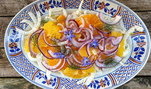 Salade fleurs de bourrache