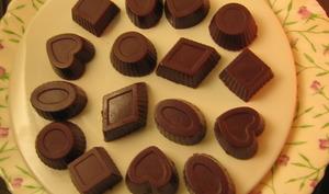 Chocolats noirs maison