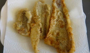 Merlan frit au citron
