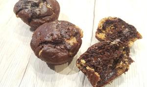 Muffins au chocolat et pépites de cacahuètes
