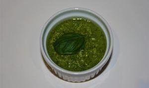 Pesto de basilic et amandes