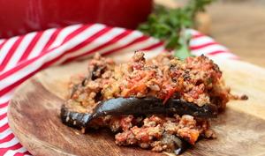 Gratin d'aubergines façon moussaka