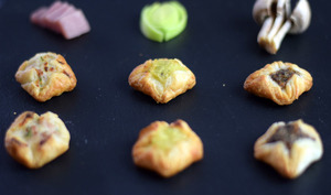 Mini-paniers apéritifs au jambon