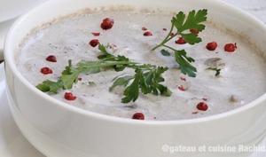 Soupe veloutée aux champignons