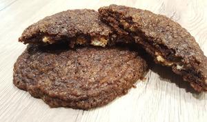 Cookies chocolat, coeur de creamcheese